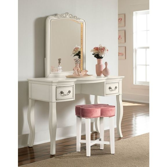Quad Vanity Stool Pink Value City Furniture And Mattresses