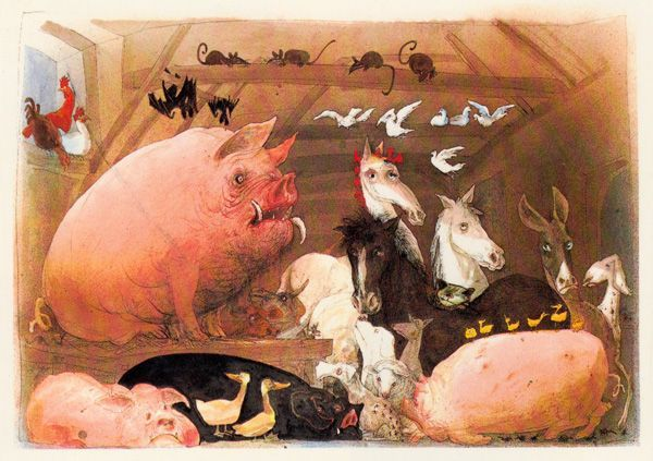 Orwell S Animal Farm As Illustrated By Ralph Steadman Ralph Steadman Ralph Steadman Art Farm Animals