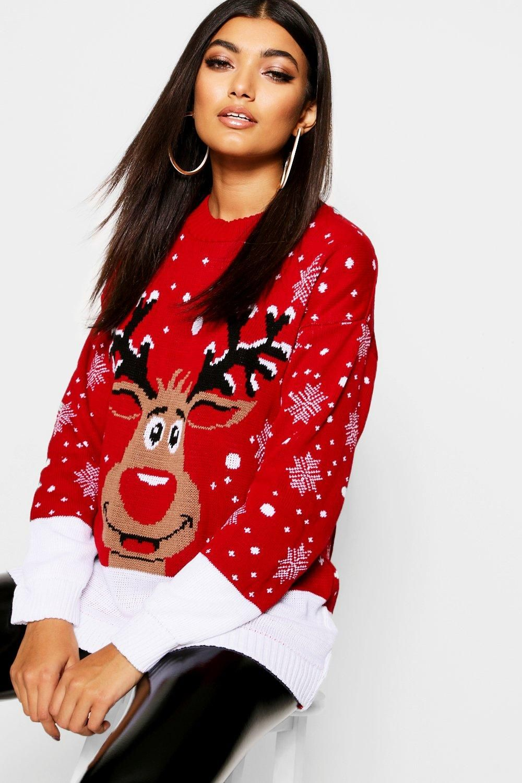 Reindeer Christmas Jumper Womens Christmas Jumper Christmas Sweaters For Women Reindeer Christmas Sweater [ 1500 x 1000 Pixel ]