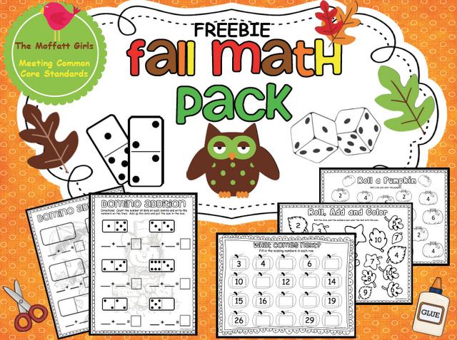 The Moffatt Girls: Fall Math Pack FREEBIE!