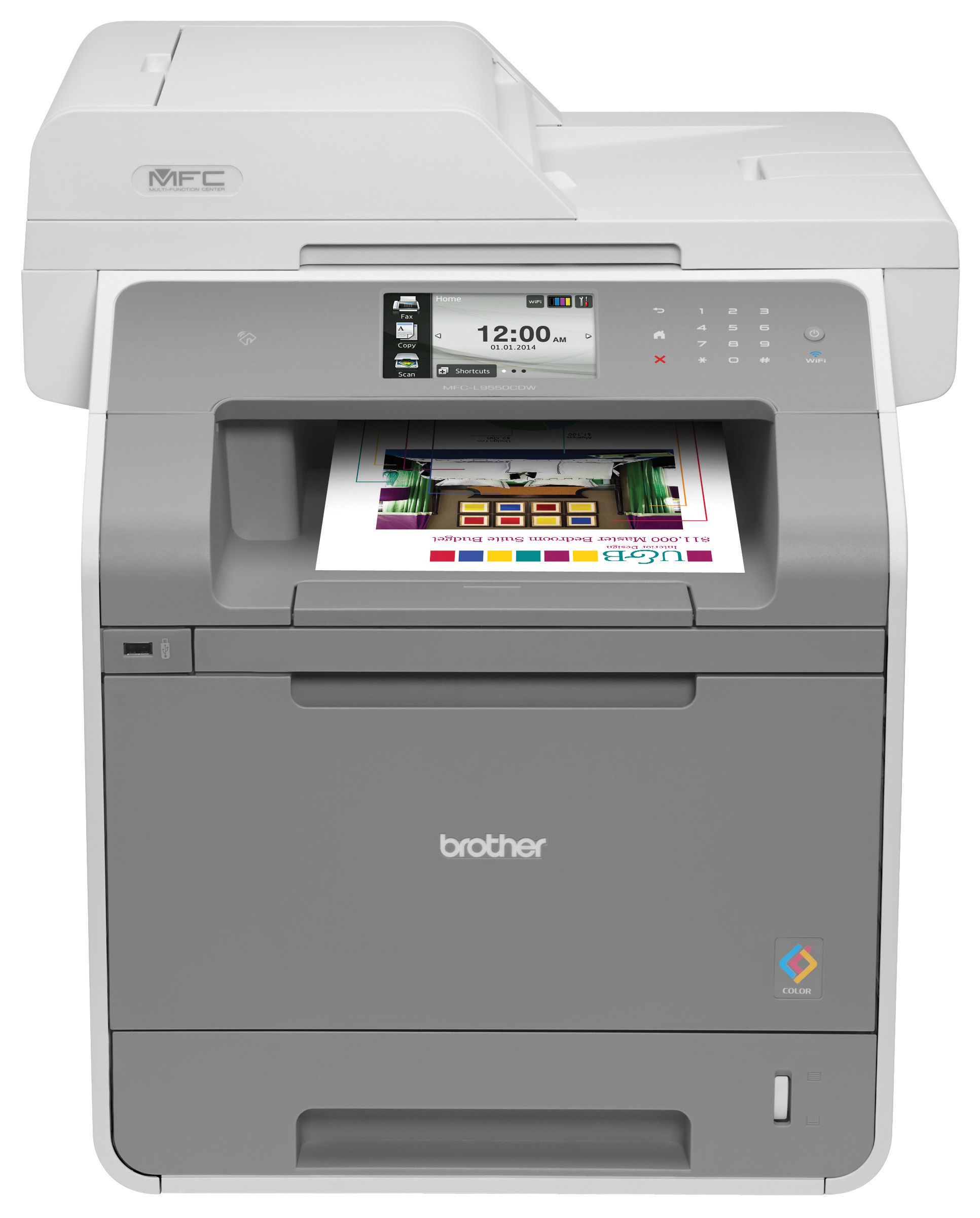 Brother Color Laser All In One Item Brtmfcl9550cdw Ideal For Mid Sized Workgroups Looking For A Color Laser All In One Brother Mfc Laser Printer Brother