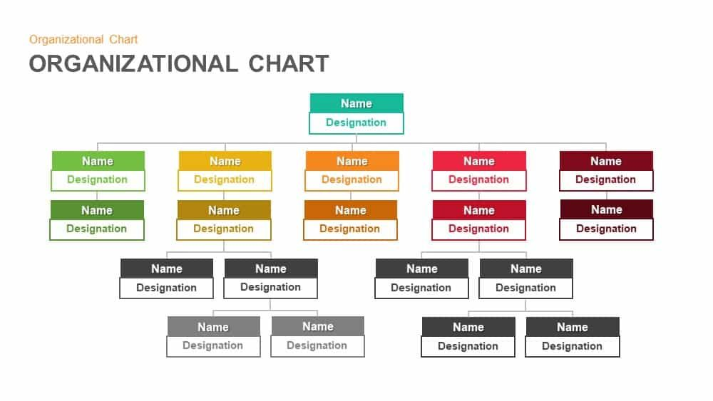 Organizational Chart Hierarchy Templates For Powerpoint And