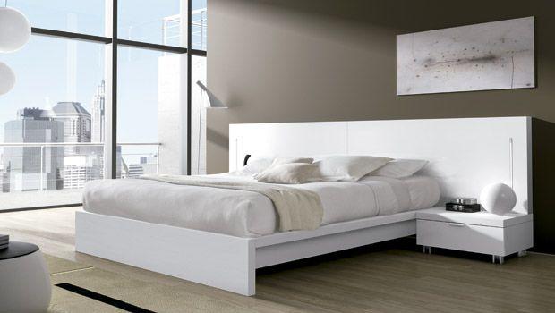 Dormitorios matrimonio modernos blancos dise o de for Diseno de interiores dormitorios
