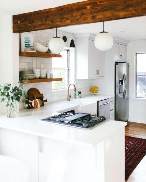 How to Make the Most of Your Small Kitchen - Small kitchen decor, Kitchen remodel small, Kitchen layout, Kitchen design small, Tiny house kitchen, Kitchen designs layout - Lack of counter space shouldn't hold you back