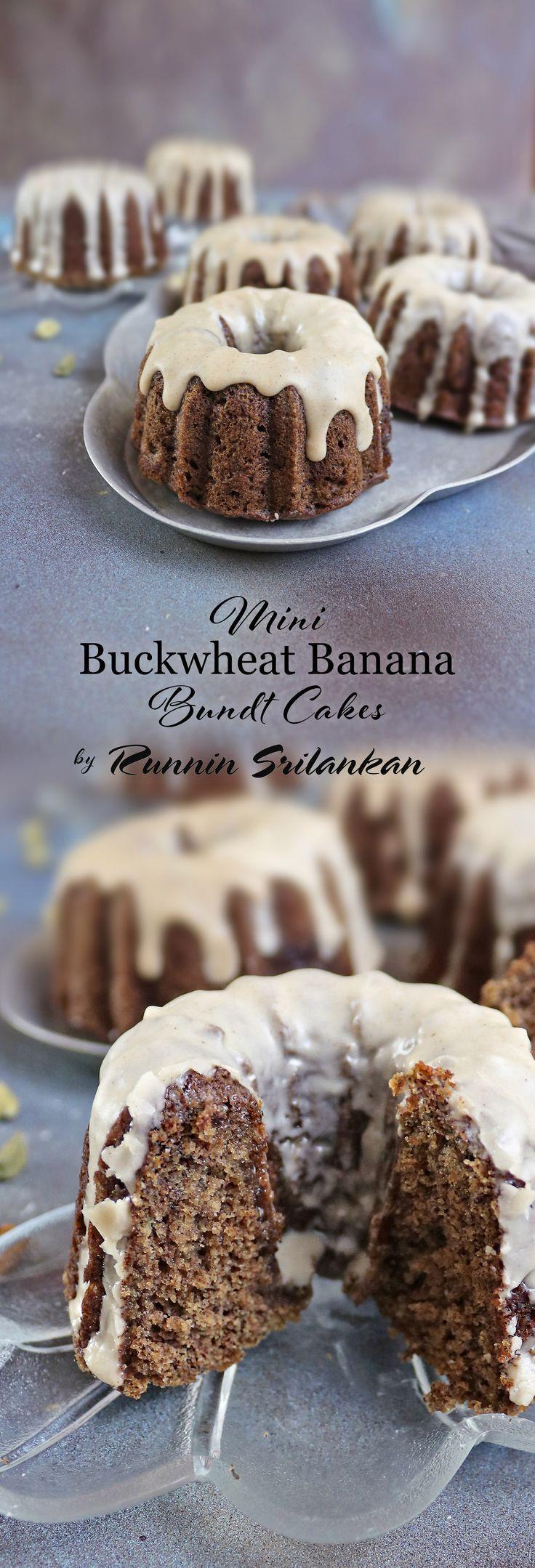 Buckwheat banana mini bundt cakes gluten free mini