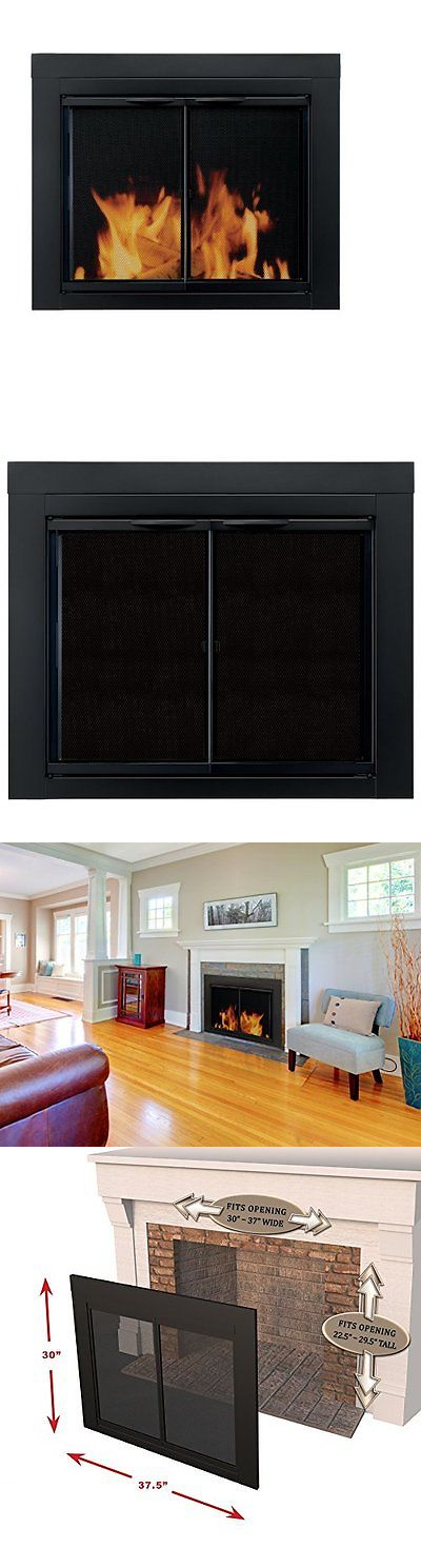 Small Fireplace Glass Doors Part - 42: Fireplace Screens And Doors 38221: Pleasant Hearth An-1010 Alpine Fireplace  Glass Door,