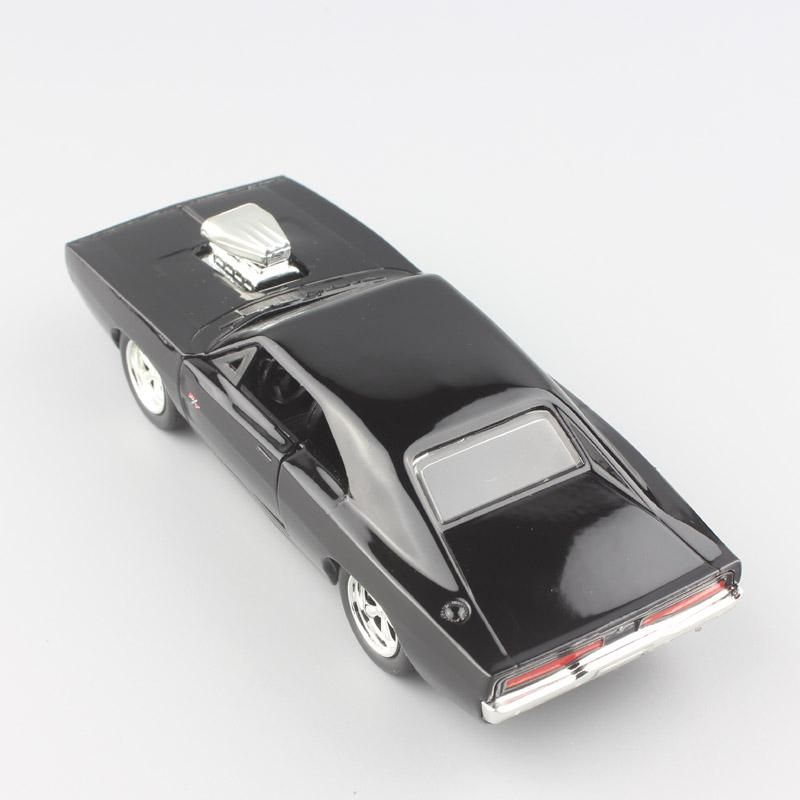 1970 Dodge Charger Fast And Furious Diecast Cars Top View Back View