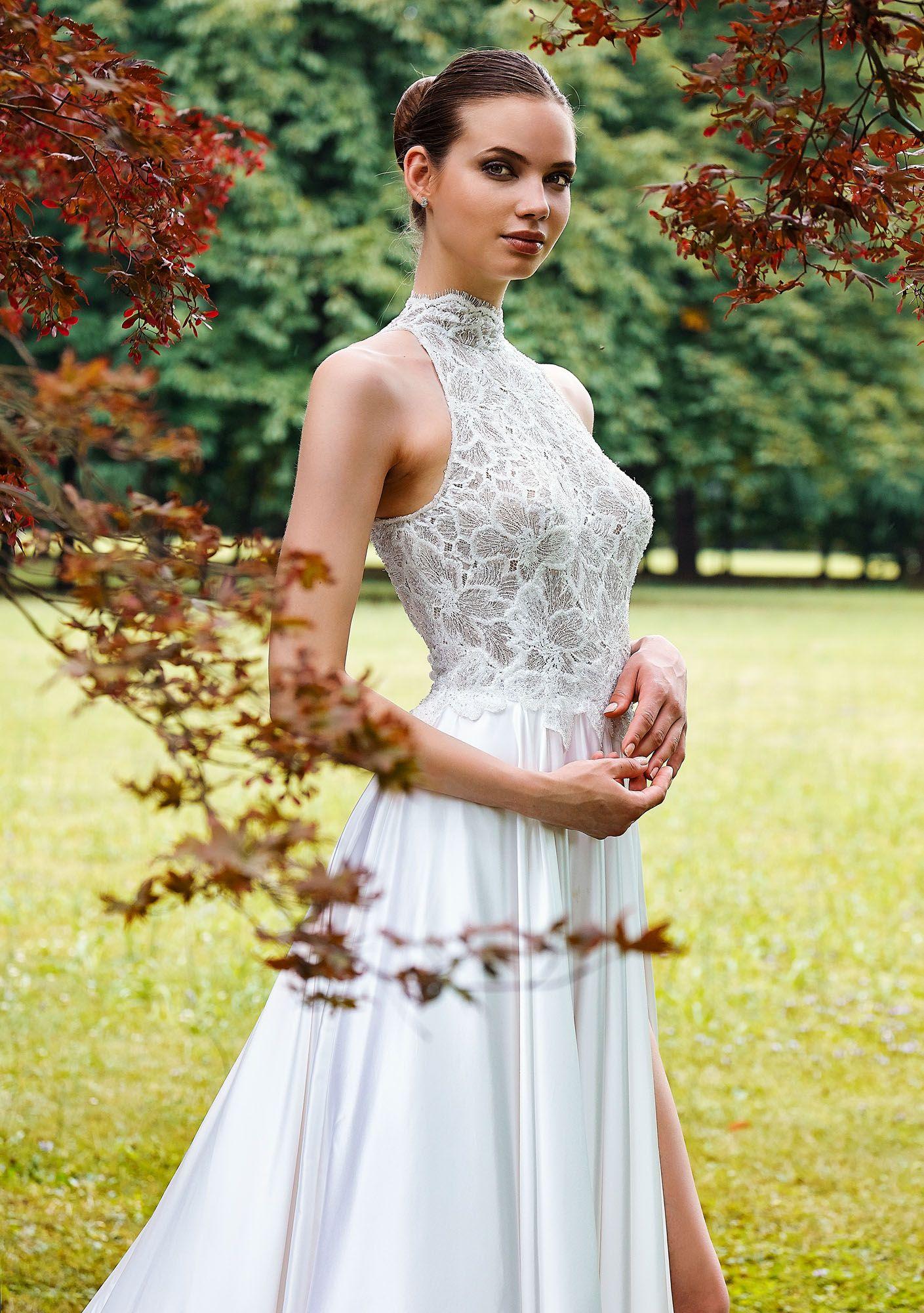 4ca142b99fcf MODELLO 1822 Vestito da sposa in satin di seta pura