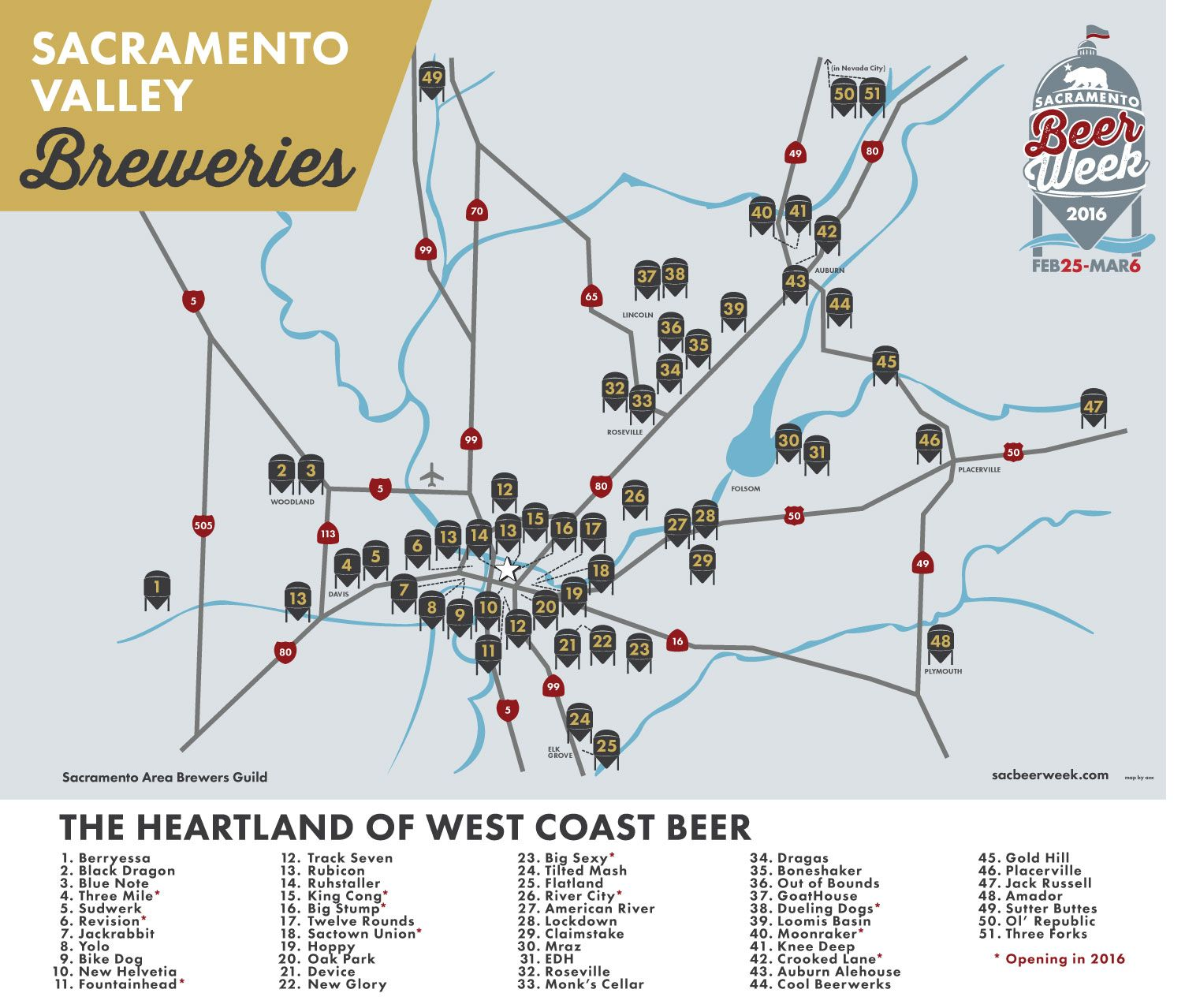 a graphic of the Sacramento Valley Breweries | Breweries