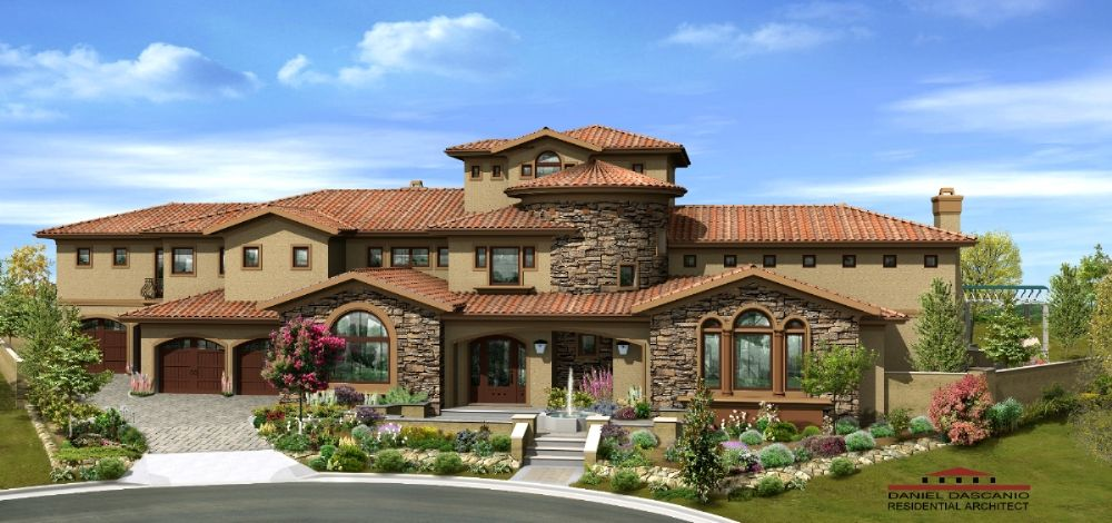 Tuscan style homes of 9 exterior home remodel for Luxury tuscan house plans