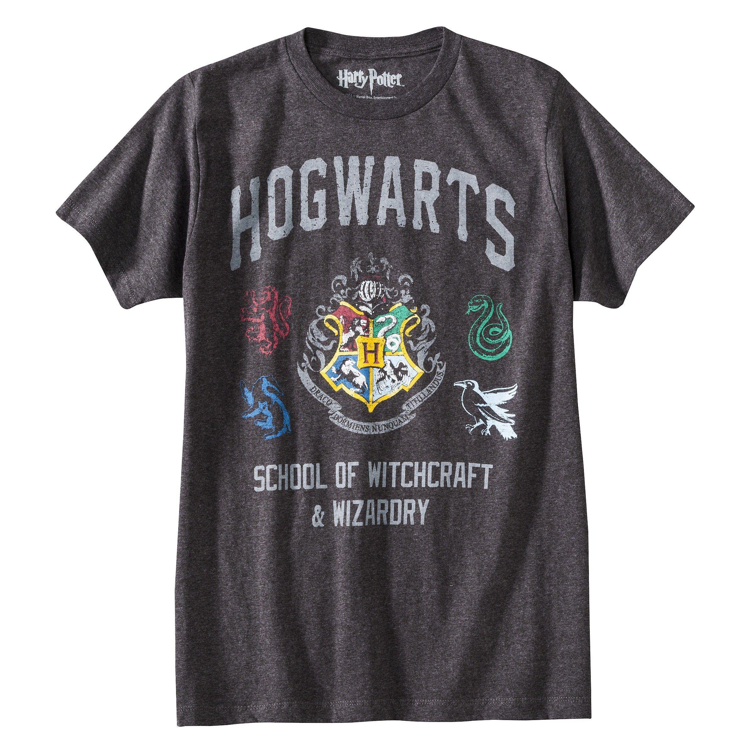 Men S Harry Potter Hogwarts T Shirt Gray Target Hogwarts T Shirt Hogwarts Shirt Harry Potter Shirts