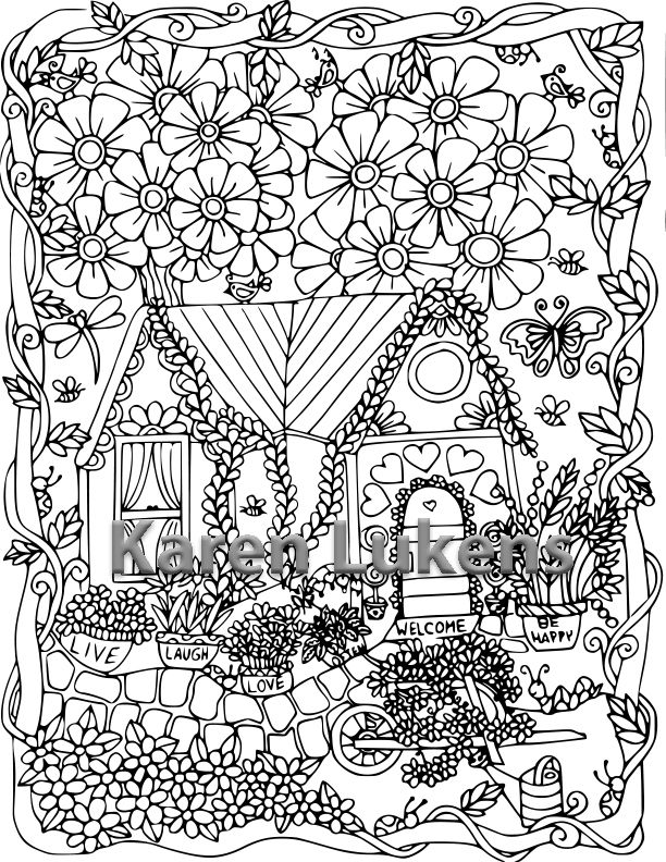 Pin On Karen Lukens Artist - Coloring Pages