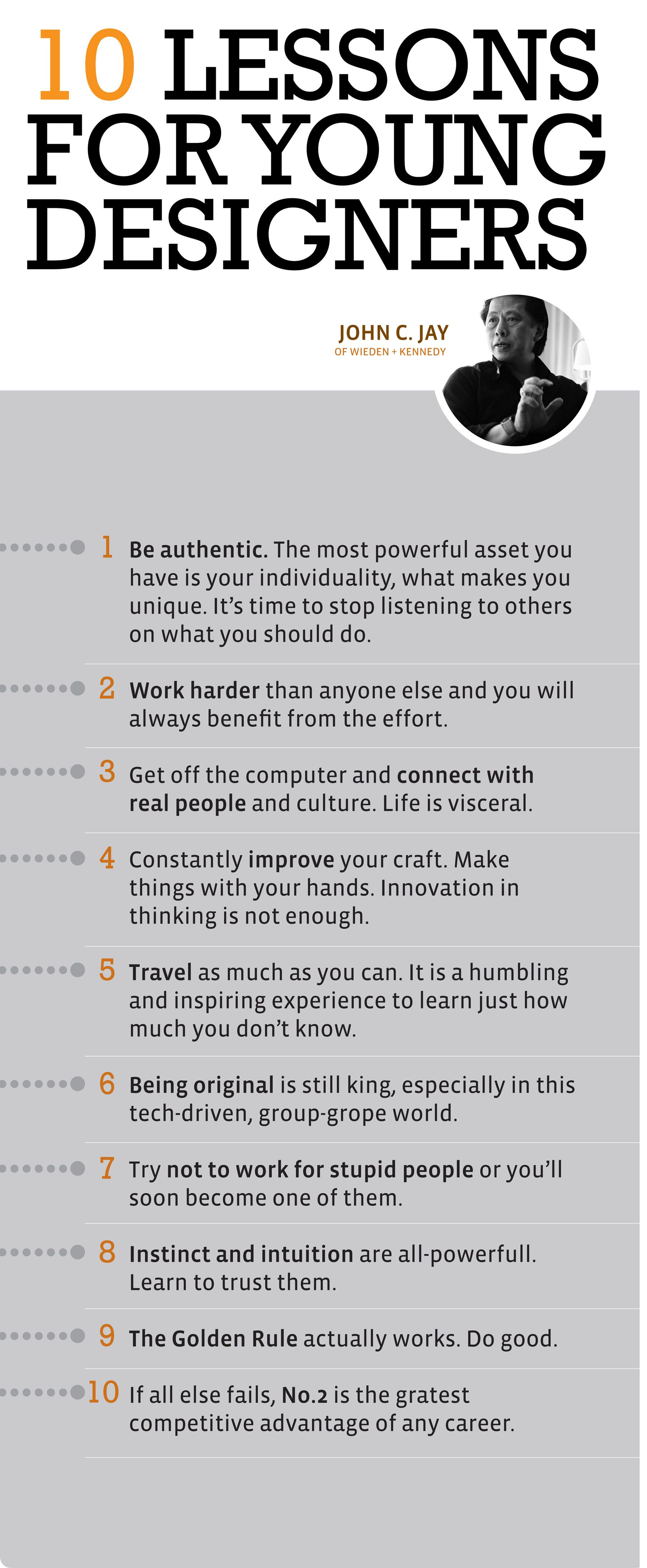 John Jays 10 Lessons For Young Designers
