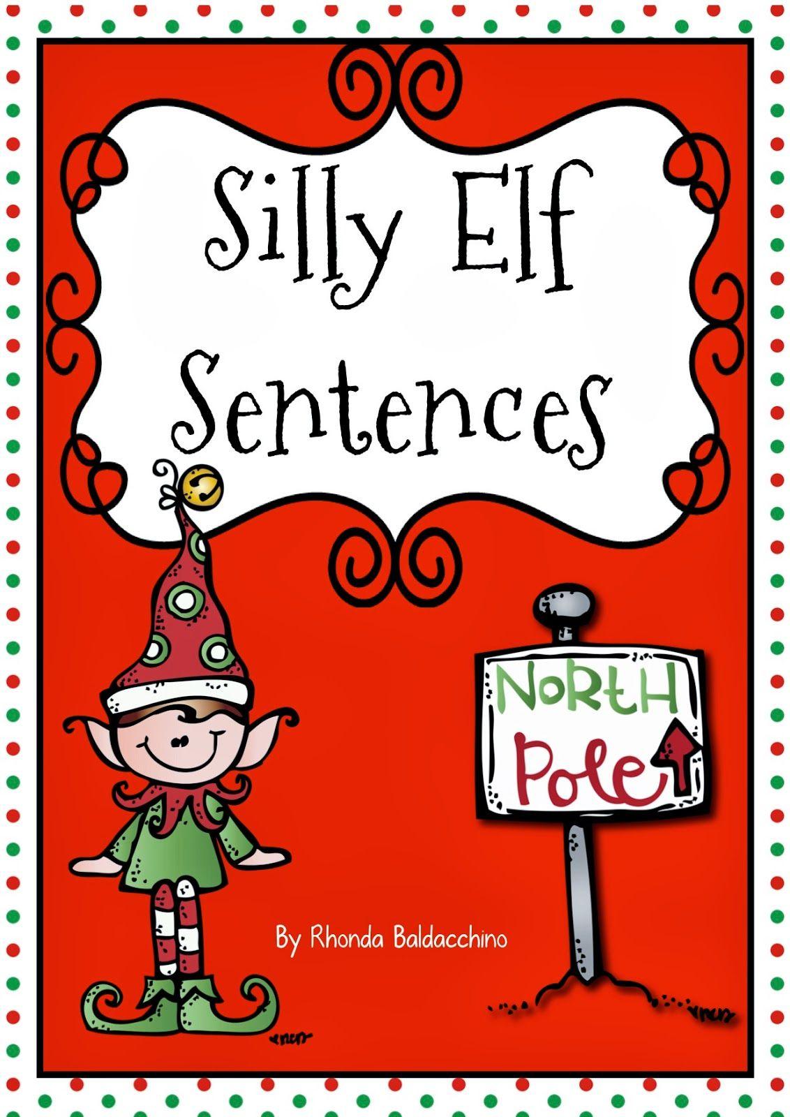 Classroom Fun Silly Elf Sentences Freebie