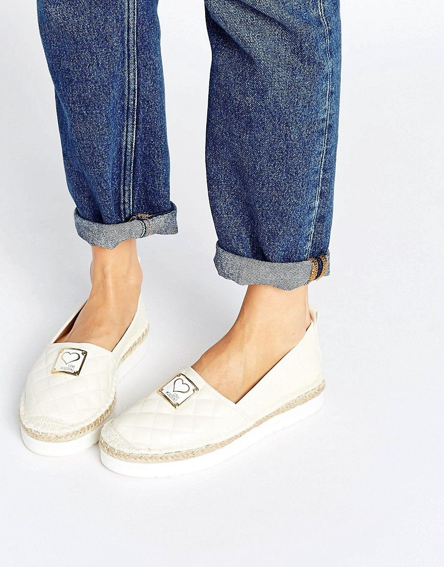 5b7d5553a Love Moschino Quilted Espadrilles - White | Projects to Try in 2019 ...