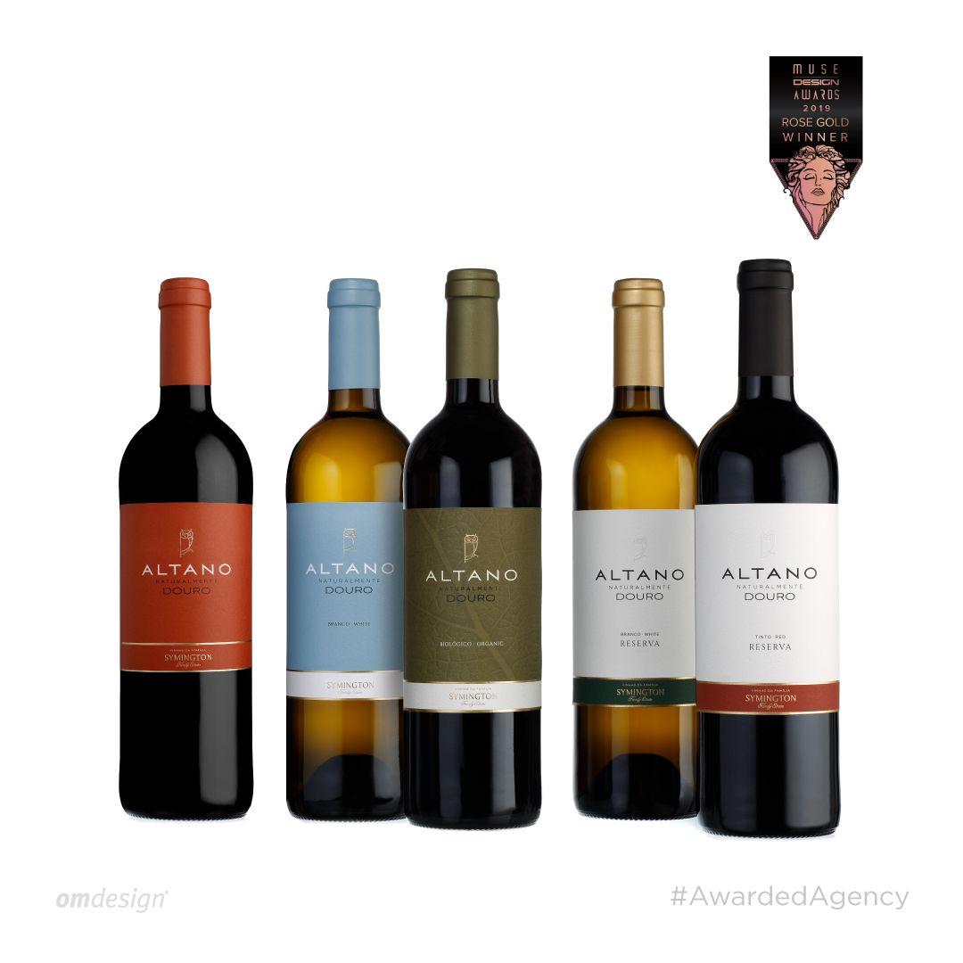 Altano  #Omdesign #Design #Portugal #LeçadaPalmeira #Since1998 #AwardedAgency #DesignAwards #WinePackaging  #PackagingDesign #Symington #SymingtonFamilyEstates #Altano #VinhodoDouro #DouroWine #Douro #IVDP #PortugueseWines #WinesofPortugal #WineLovers #WineDesign #Awards