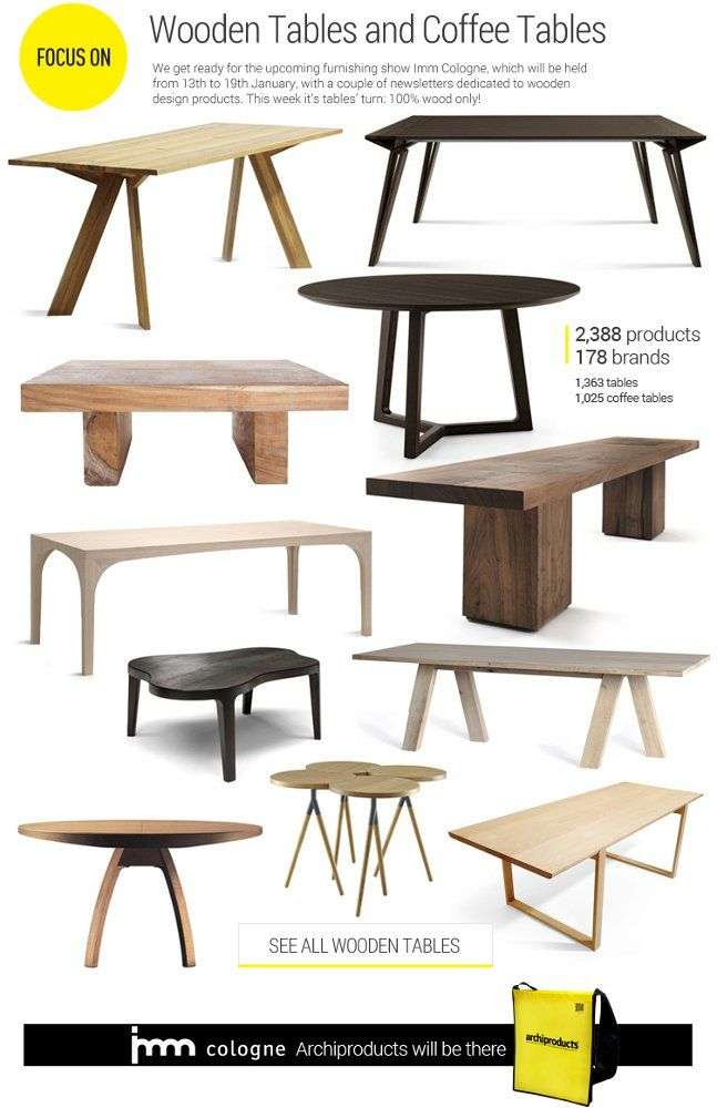 #archiproducts Focus 131: Wooden #tables And Coffee Tables  Www.archiproducts.com