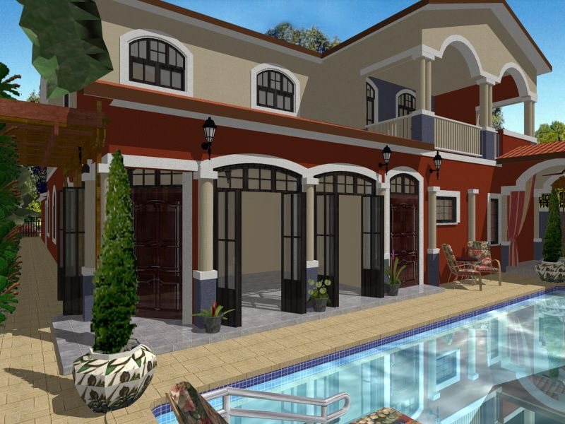 Candy 39 s home back yard created by robert de jesus for Architect 3d home landscape design