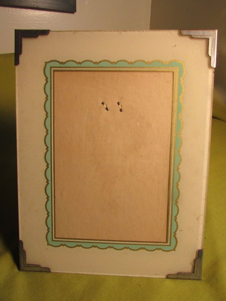 Antique Art Deco Glass Picture Frame,Reverse Painted Border,Rare Pic ...