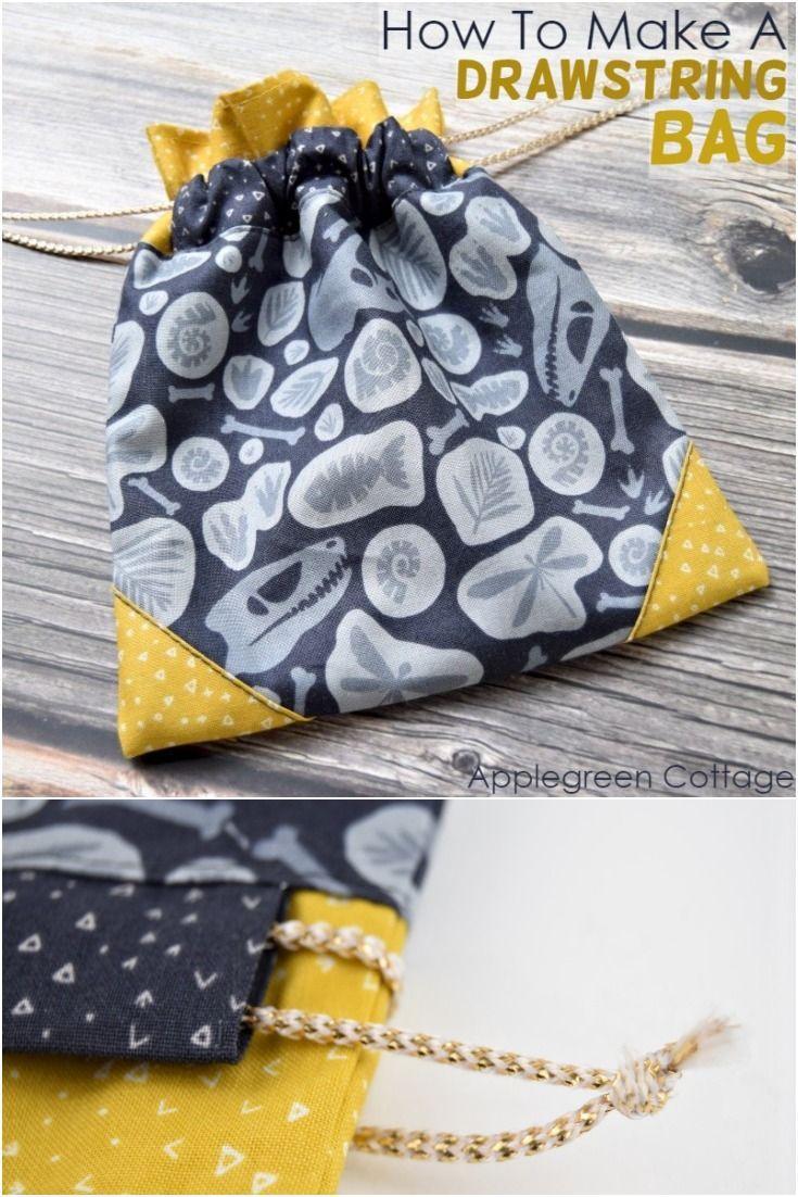 How To Make A Drawstring Bag - AppleGreen Cottage