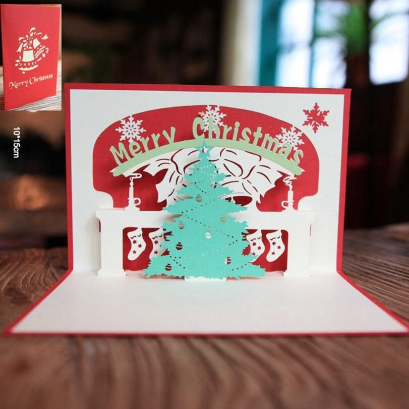 Christmas card santa claus greeting card folding greeting card 3d christmas card santa claus greeting card folding greeting card 3d laser cutting popular paper hand custom m4hsunfo