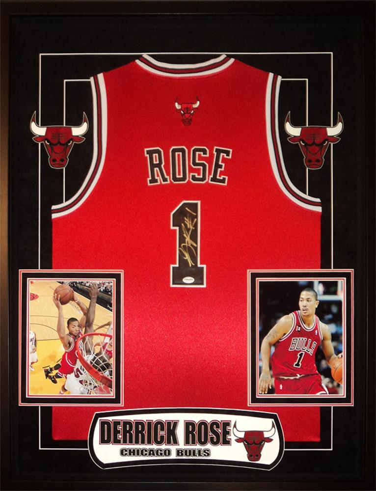 super popular 075e9 00c4c Derrick Rose - Signed Chicago Bulls NBA Basketball Jersey ...
