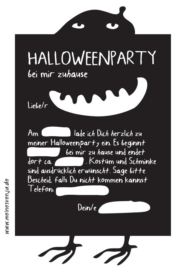halloween einladung kostenlos auf wwwinesvenja.de - free, Einladung