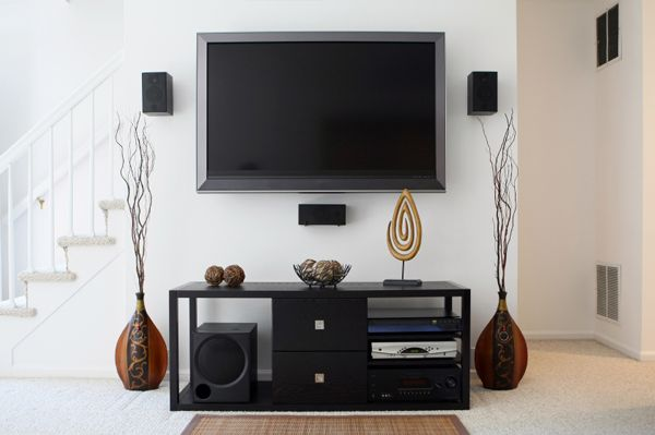 Wall Mounted Flat Screen TV Ideas | 50 Cheap decorating tips: Part ...