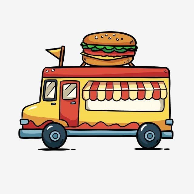 Camion De Comida Hamburguesa Comida Para Llevar Comida Rapida Clipart De Comida Rapida Diseno Publicitario Coche De Desayuno Png Y Vector Para Descargar Grat Food Truck Cute Cartoon Food Fast Food