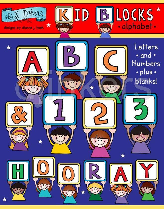 kid alphabet block letters cute alphabet clip art alphabet