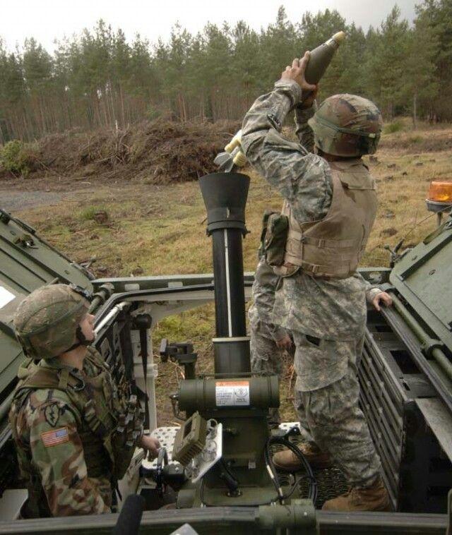 U S Army 120mm Mortar : M stryker with mm soltam mortar united states