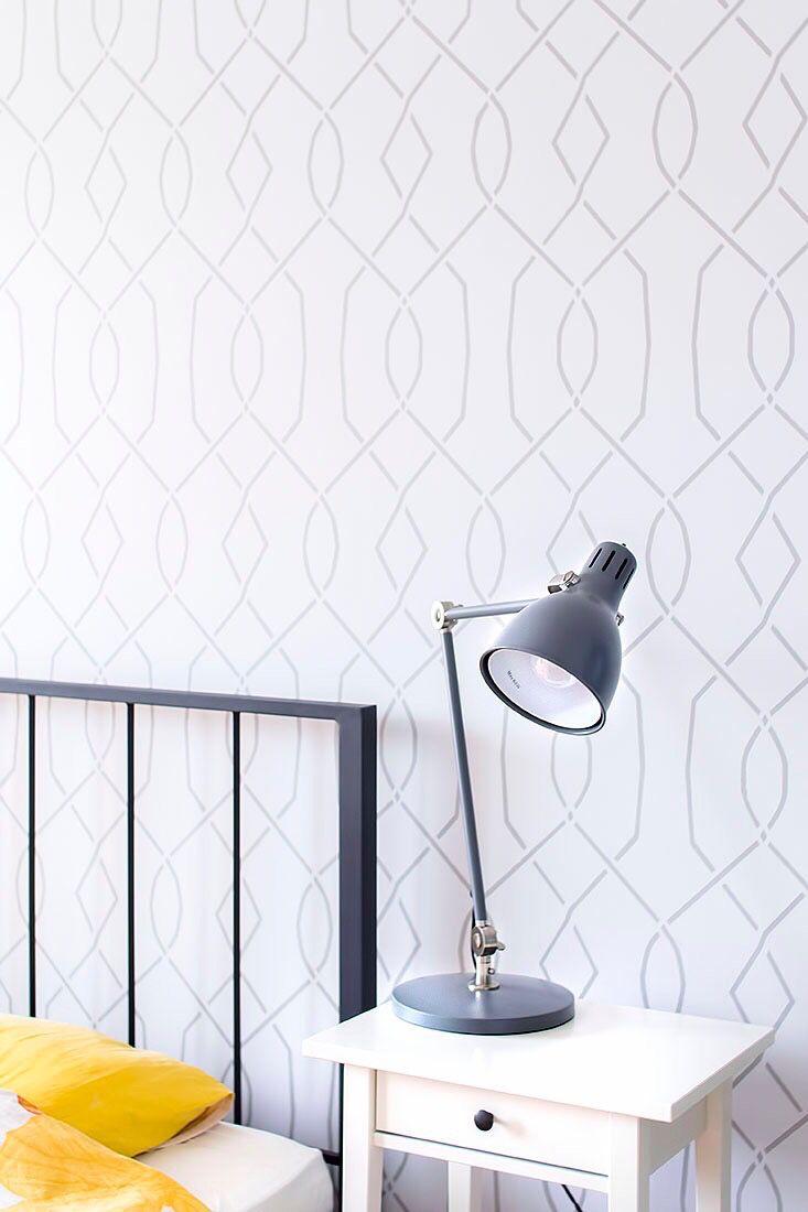 Moorish Trellies wall stencil beautiful Scandinavian decor ...