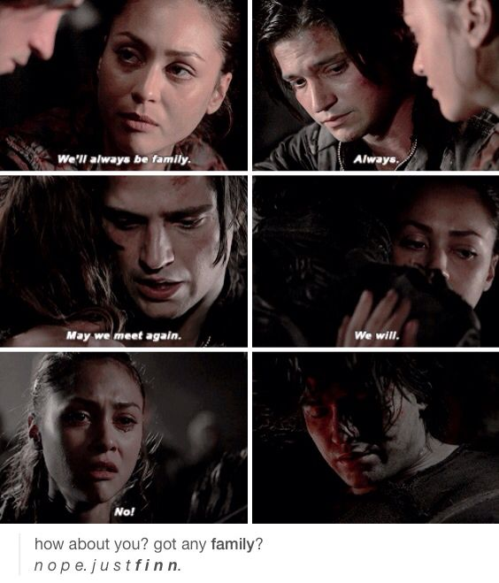 I didn't cry for Finn, I cried for the Heart Broken Raven that collapsed from the pain of losing the only family she had left. When she collapsed my heart died a little.