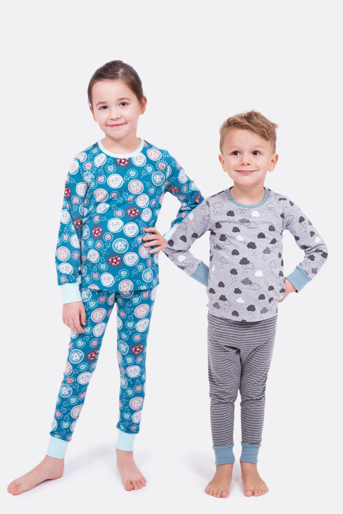 schnittmuster kinder schlafanzug jungen mädchen nähen