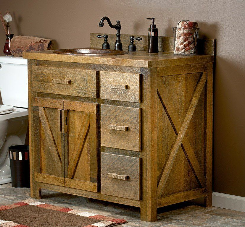 Weathered Wood Bathroom Vanity 24 72