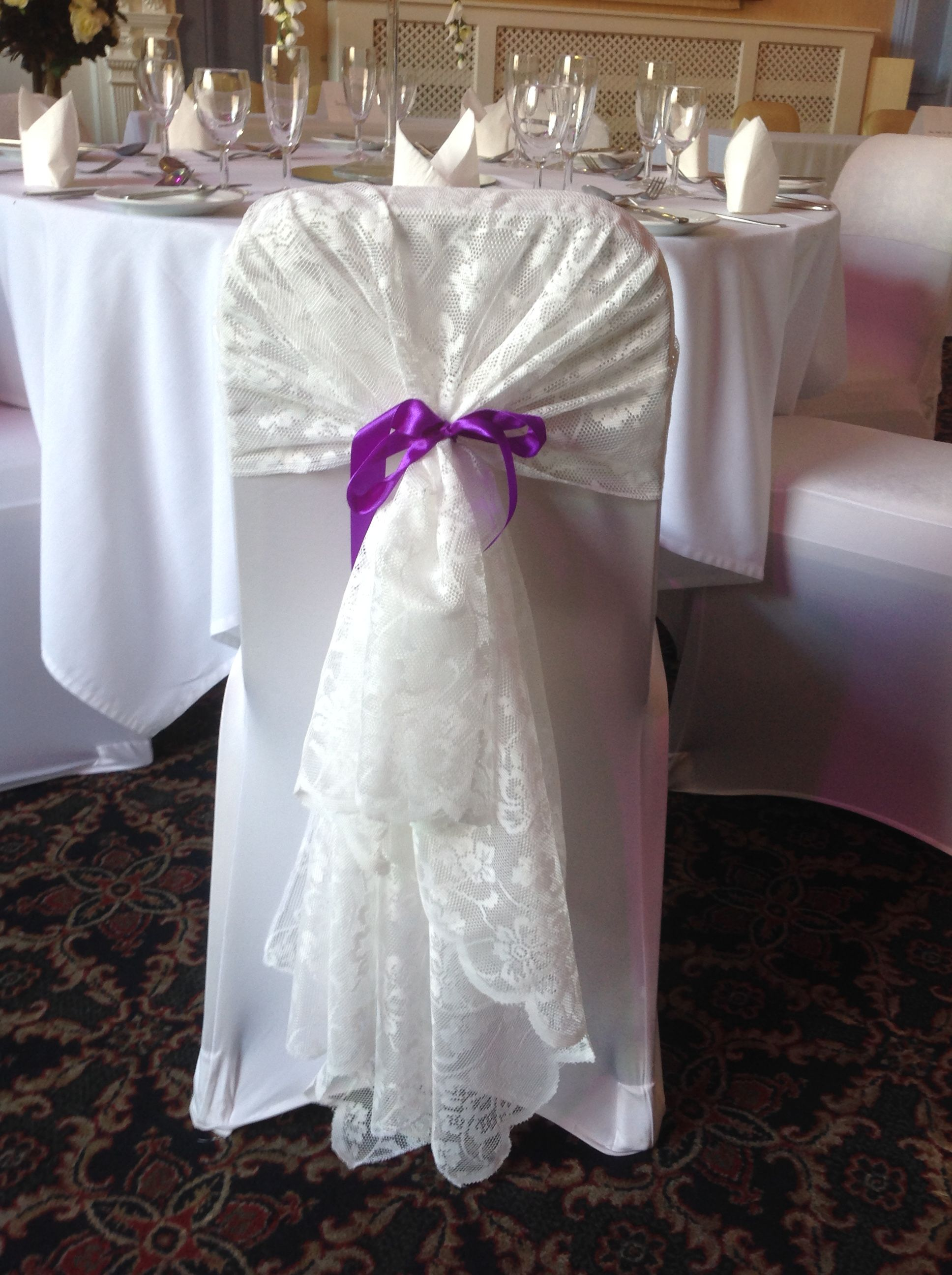 wedding chair covers tamworth design bar beautiful lace hood cover and available to hire from make it special events atherstone warkwickshire