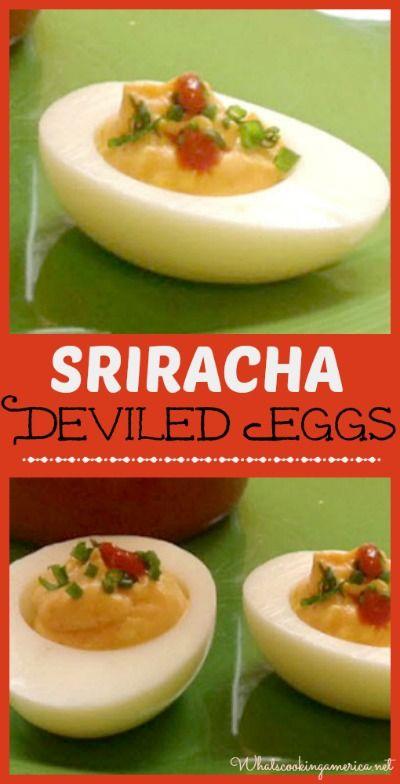 Sriracha deviled eggs recipe sriracha deviled eggs devil and egg sriracha deviled eggs recipe whats cooking america forumfinder Gallery