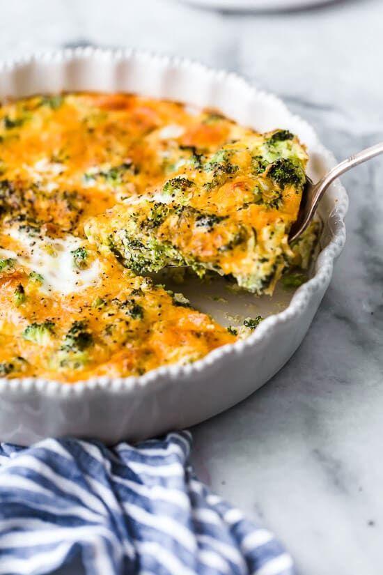 Crustless Broccoli Cheddar Quiche Recipe Broccoli Cheddar