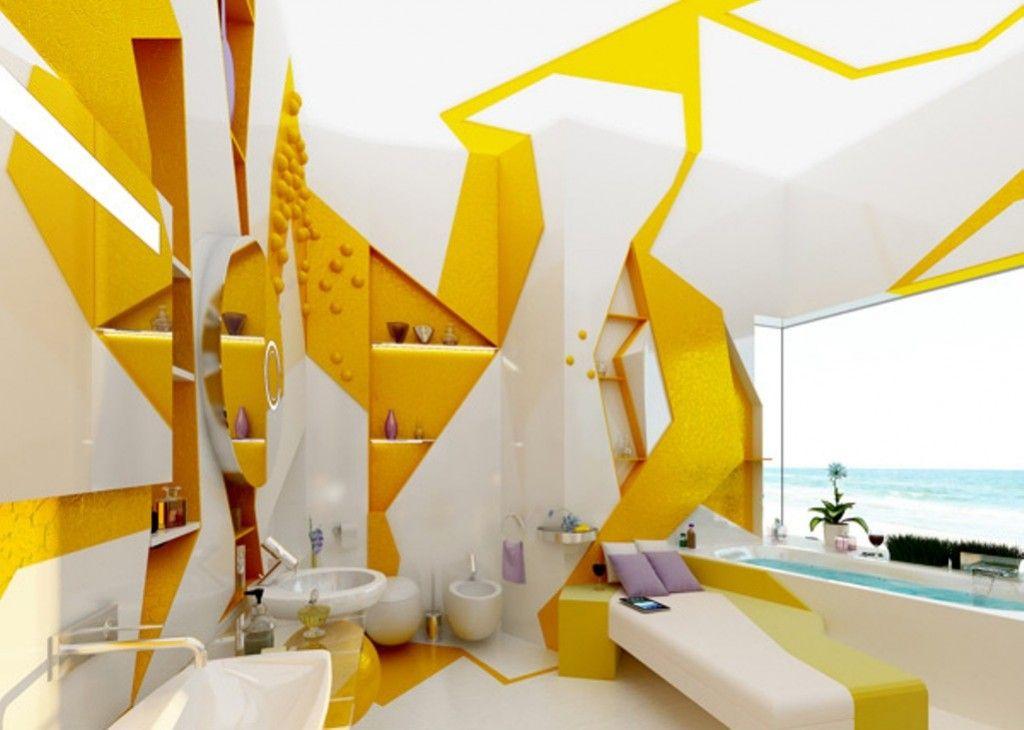 12 Sunny Yellow Bathroom Design Ideas - Decorextra