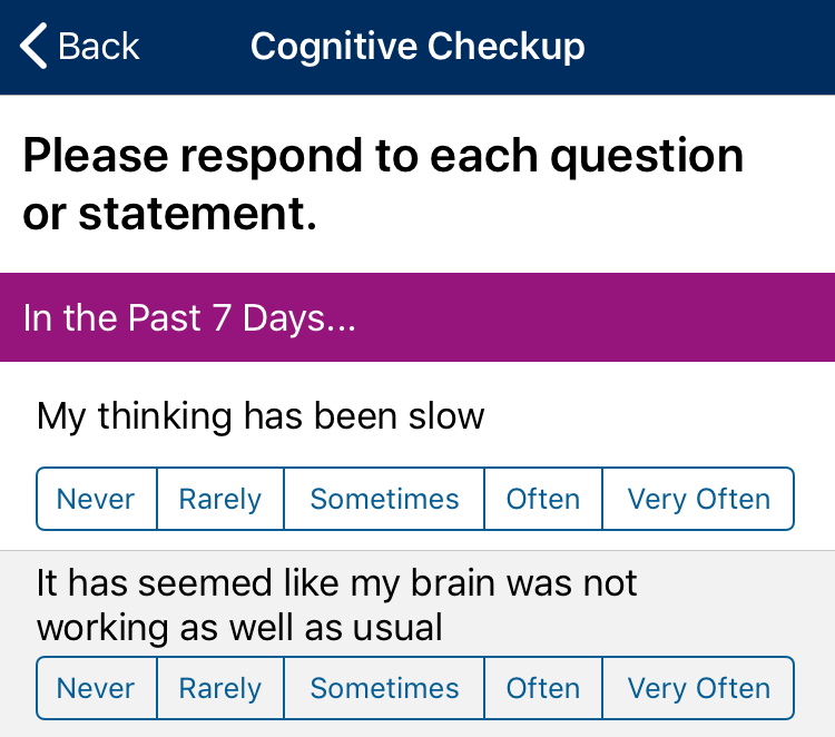 My MS Manager's newest feature is a Cognition Scale that