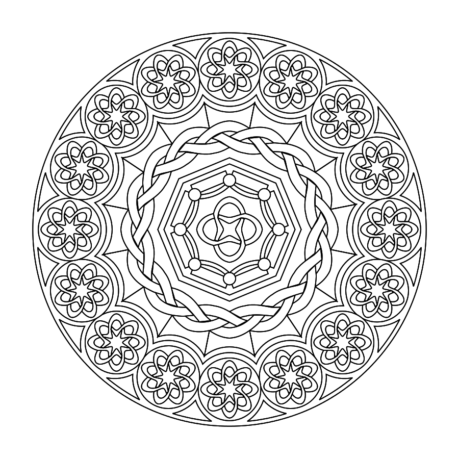 Mandala Coloring Pages Advanced Level