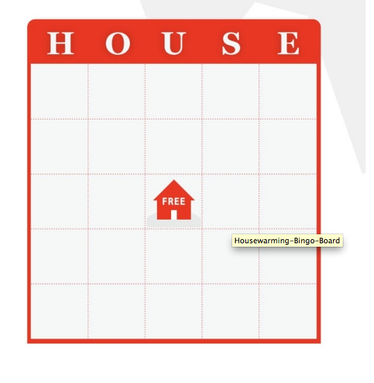 Game idea house bingo free download new house themed for Housewarming party activities