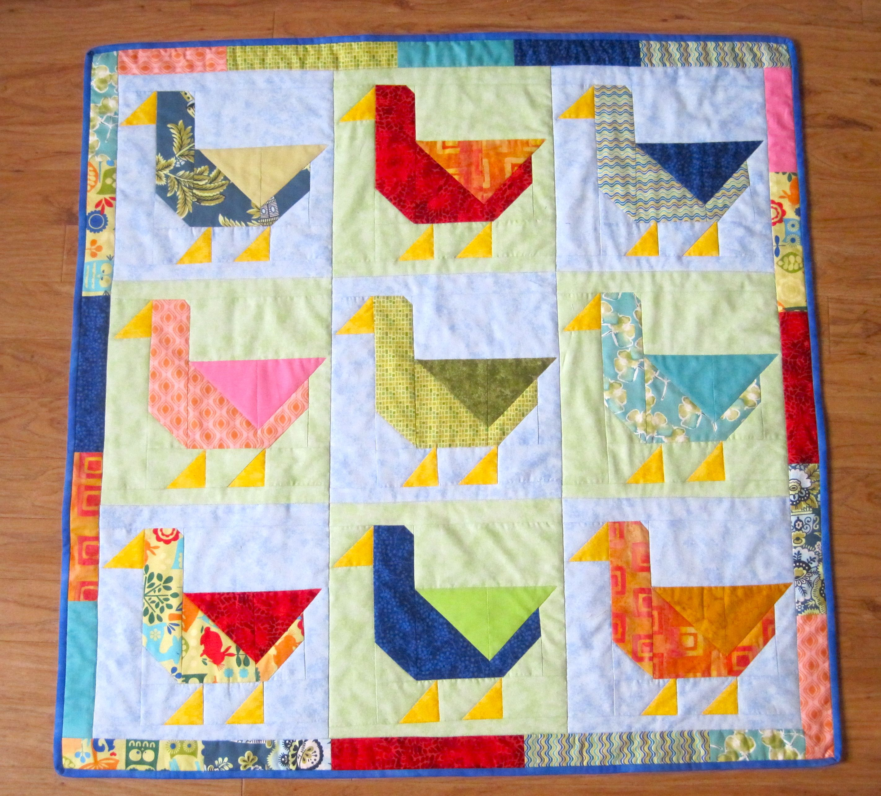 Duck quilt. (from pattern on Quilty Things I Like board) | Duck ...