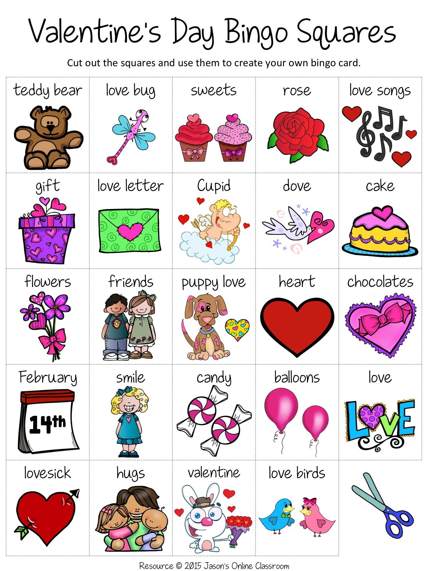 Free ValentineS Day Bingo  JasonS Freebies    Bingo