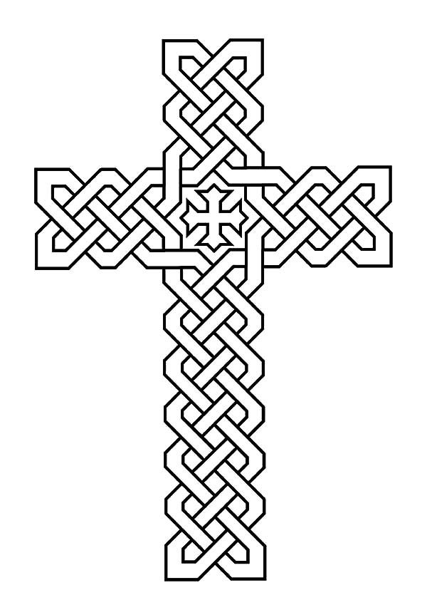 Morphed Celtic Cross Coloring Pages