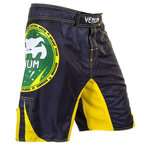 Venum All Sport Fight Shorts Black Yellow Fight Shorts Sports Fights Combat Shorts