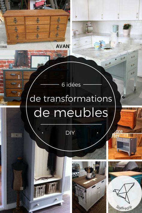 Comment relooker et transformer des vieux meubles DIY bricolage et - moderniser des vieux meubles