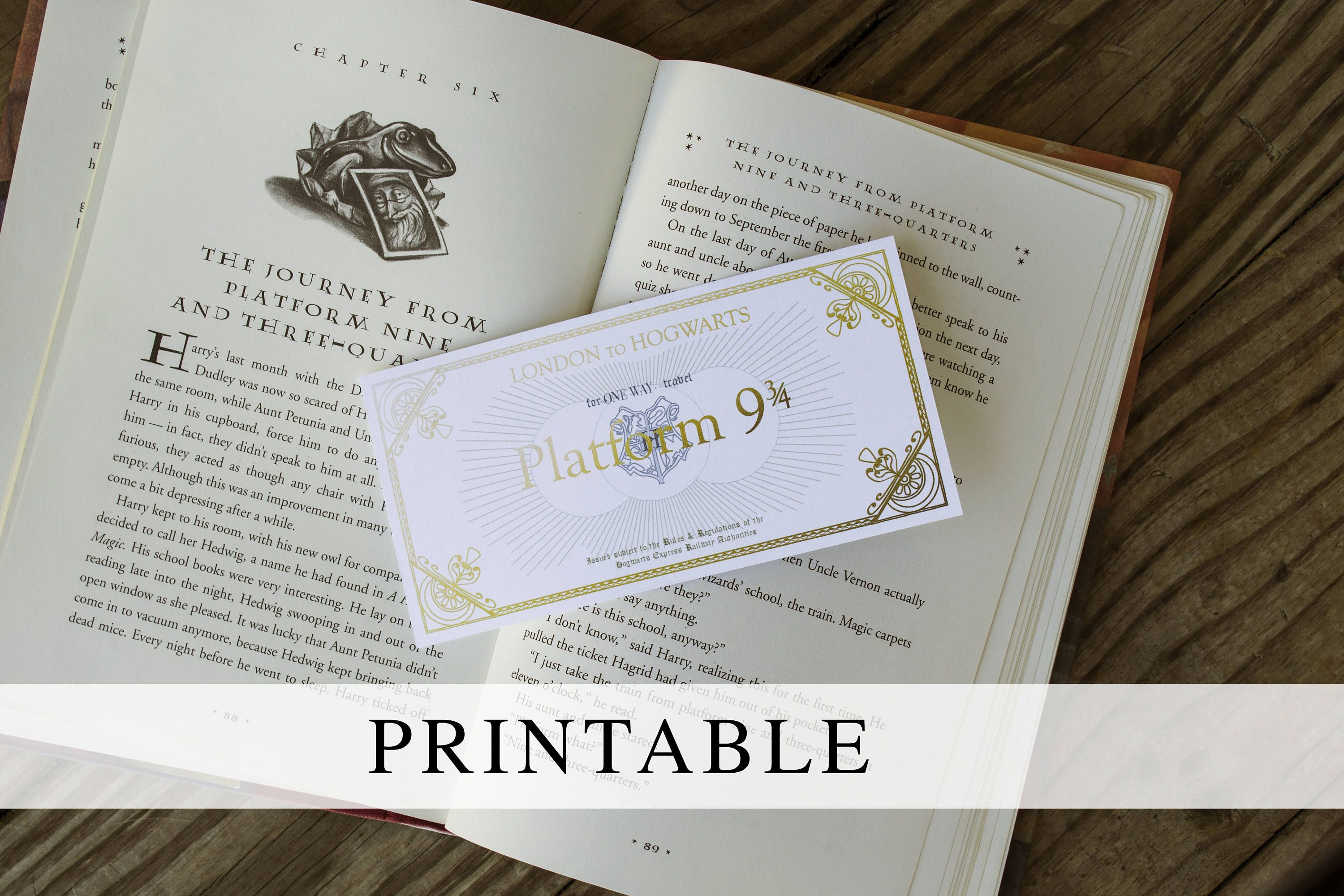 graphic about Hogwarts Express Printable named System 9 3/4 Ticket Printable Bookmark, Printable Hogwarts