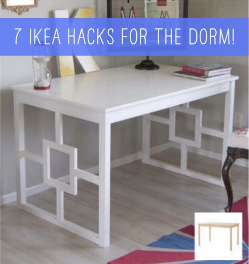 7 Awesome Ikea Hacks For Your Kid S Dorm Room Ikea Dining Ikea