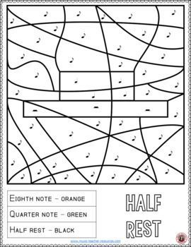 Music Coloring Pages: Music Activities for Music in Our